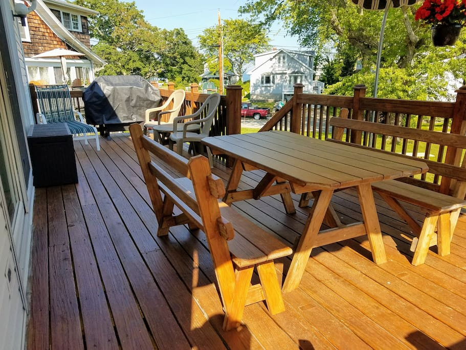 Deck with BBQ & seating.