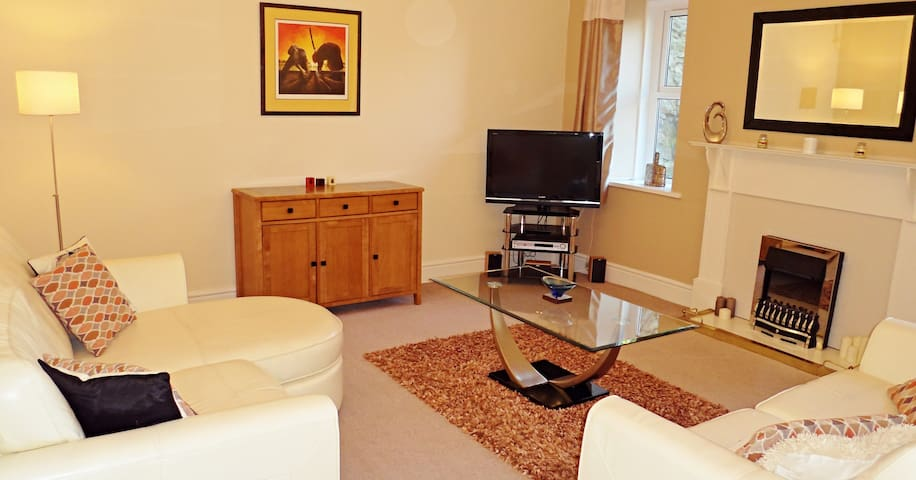 Spacious 2 Bed 2 Bath Apartment - Very central - Torquay - Daire