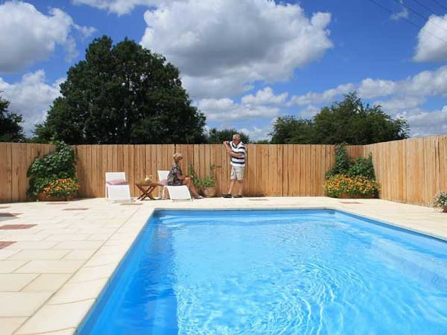 Pool open from Mid June to September