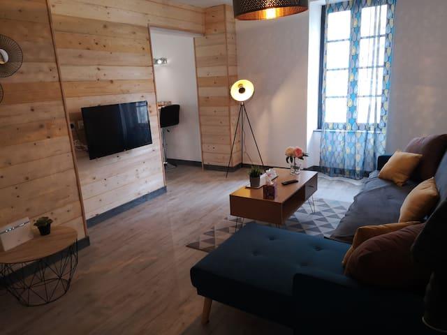 Joli 75m2 /3 lits pour 5pers Wi-Fi et désinfecté