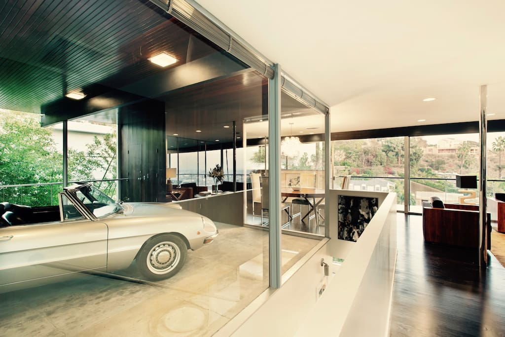 Neutra's famous glass garage.