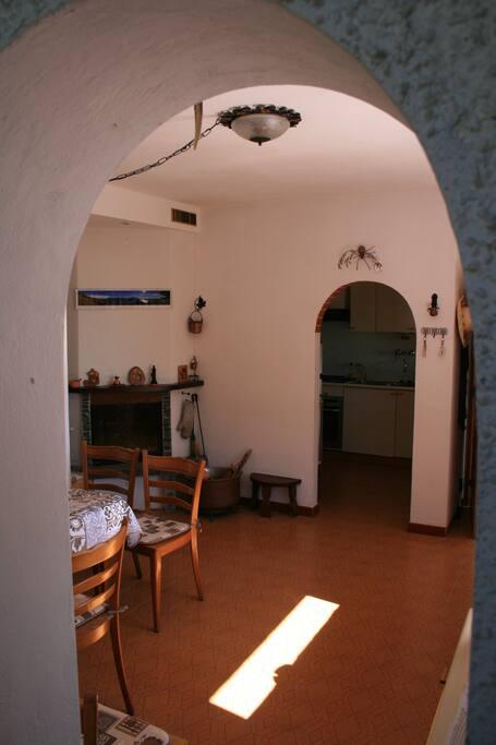 sala e angolo cottura