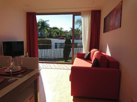 2 bedrooms, view Teide terrace,pool, wifi,parking