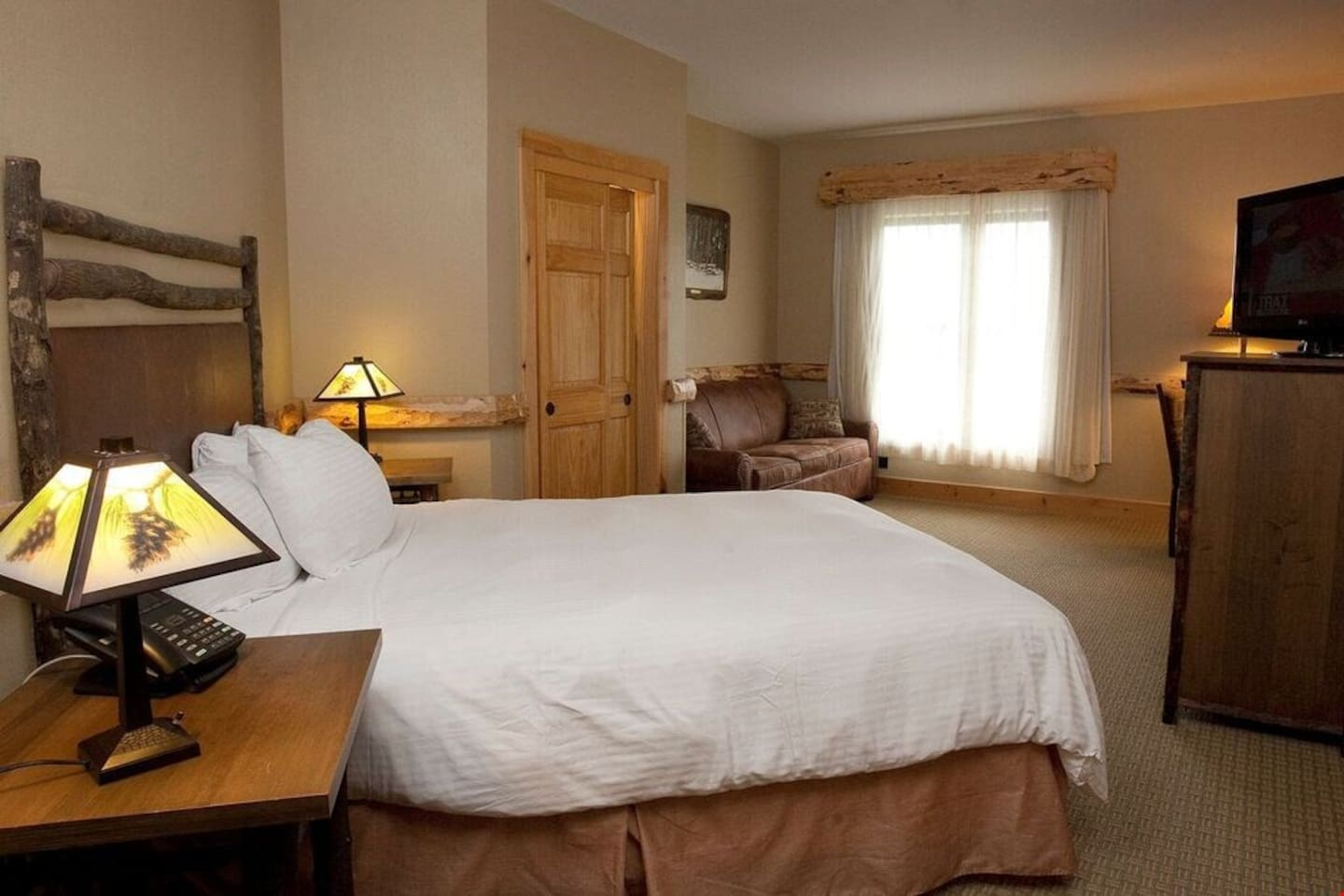 Drift off to sleep in the plush double bed
