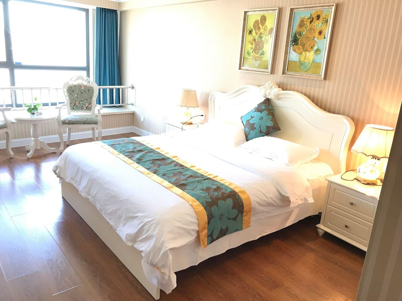 田园温馨舒适的大床 优质的舒适床品