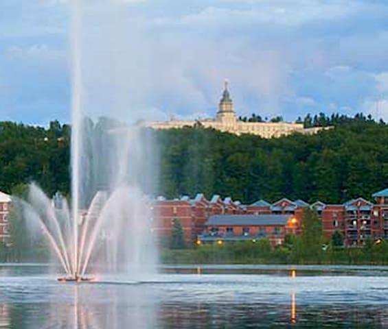 à 10-15 min de marche du lac Boivin