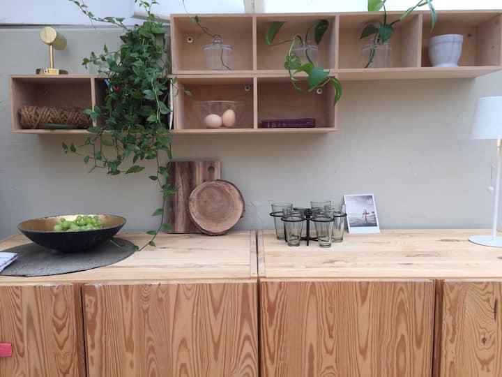 Charming livable greenhouse studio