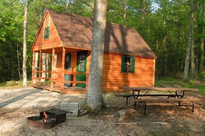 Lakeside Cabins (2 cabins and 3 tent campsites!)