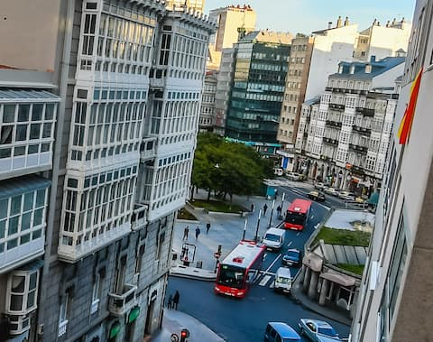 Рубин, центр города A Coruña. 60 m2