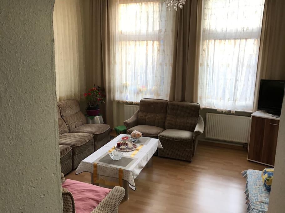 Wohnzimmer & Schlafsofa für 1-2 Personen