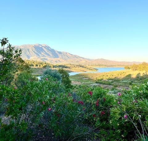 La Rústica en Viñuela, campo, piscina, vistas..