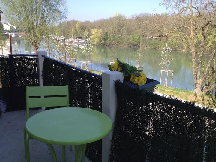 F2 avec vue sur les bords de Marne
