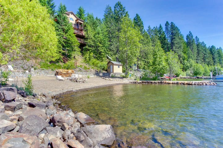Stunning bay front home with a private dock!