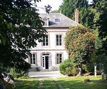 Chambre et salle de bain privative - Bec-de-Mortagne - Rumah