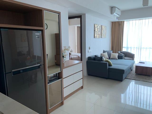 Comfy minimalist 2BR apartment in Kemang Village