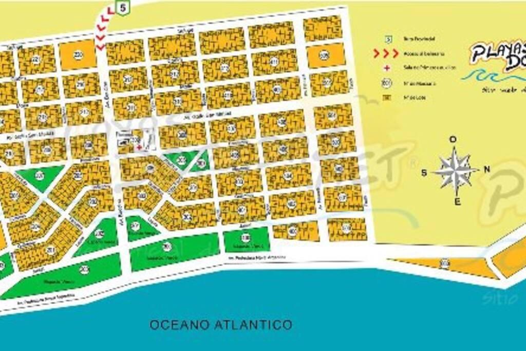 Plano de Playas Doradas, para ubicación de Mormai en Manzana 402, lote 18