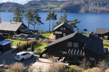 Nice fjord cabin near Hjelmeland and Pulpit Rock