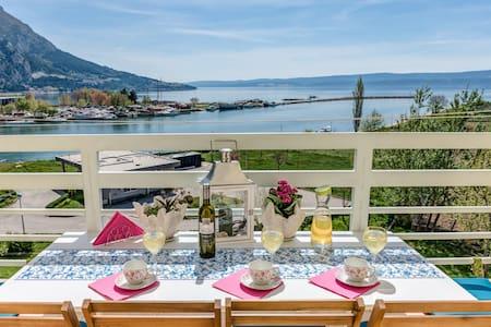 Beautifull panoramic sea view near Cetina
