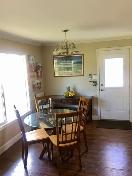 The dining area is adjacent to the kitchen and open to the living area facilitating a great gathering place for everyone to enjoy good company.