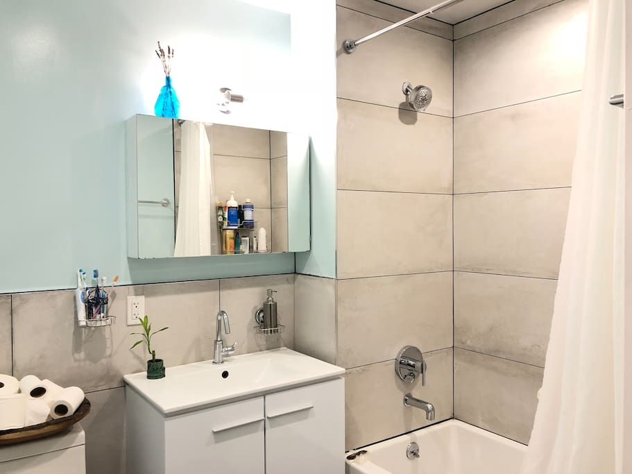 Completely renovated bathroom