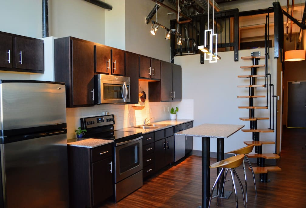 Kitchen and Mezzanine