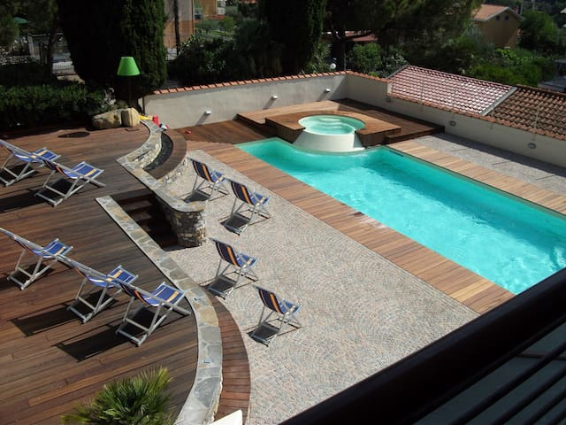 New modern studio with pool | Ap72 - Diano Castello - Apartament