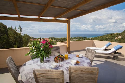 2 rooms Villa view Palombaggia with terrasse