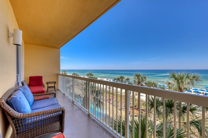 Incredible gulf view home with private balcony at Calypso Resort