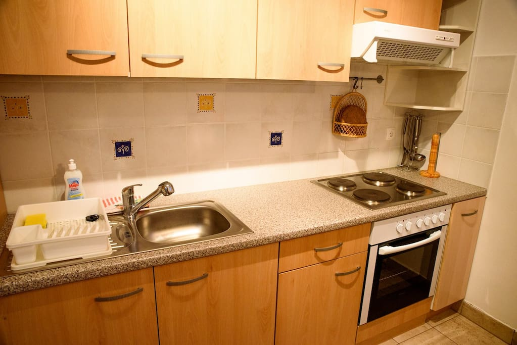 Kitchen is fully equipped and ready to cook your meal