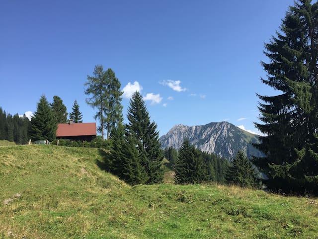 Almhütte in den oberösterreichischen Alpen