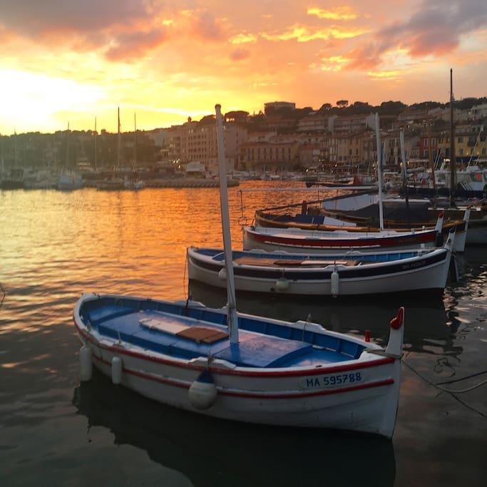 Port de Cassis. Cassis' port.
