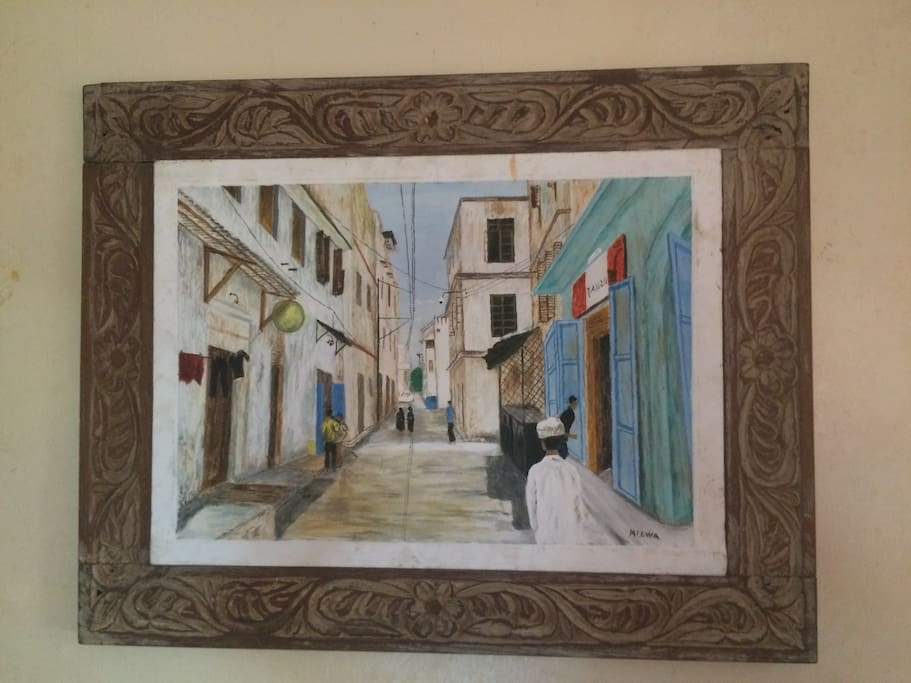 Great painting of old town Mombasa.