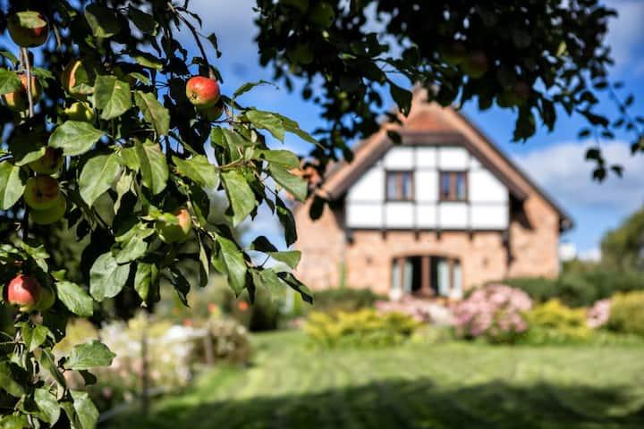 Dom w ogrodzie dla całej rodziny