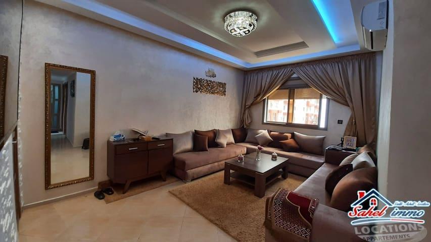 appartement bien meublé quartier salam