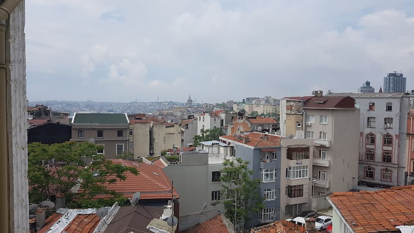 Taksim, Cihangir,renovated flat,gr8 view,5th FL#20