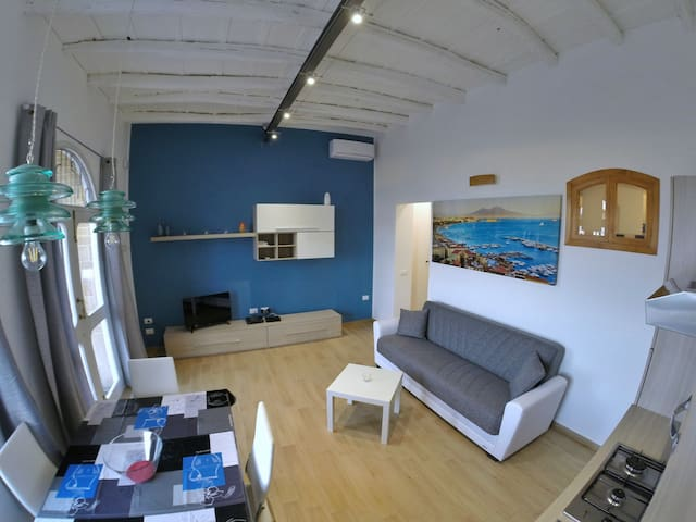 House with panoramic sea views - Santa Flavia - Hus