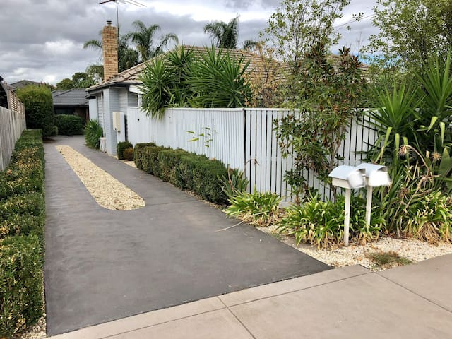 Shared Driveway and front house