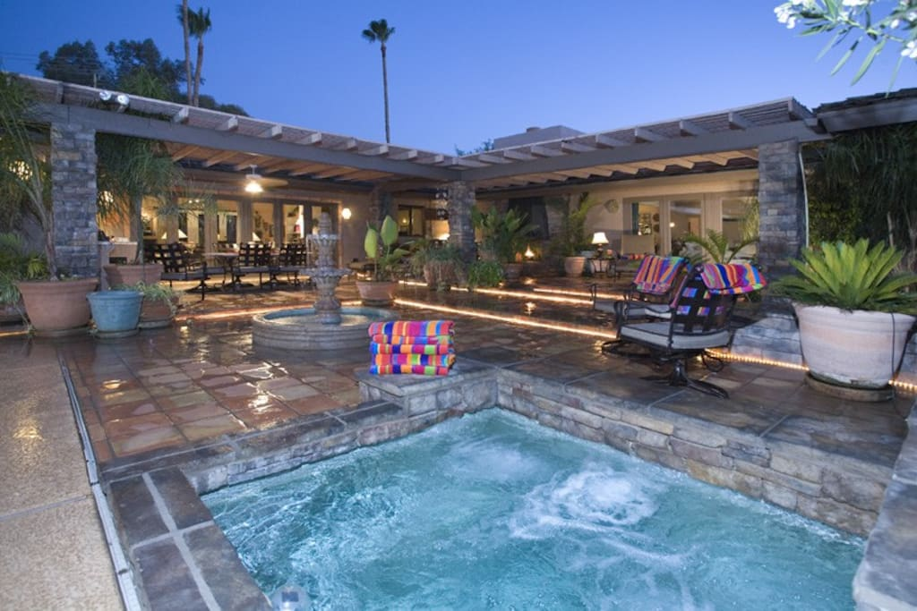 The main pool patio is an entertainer's dream!