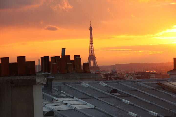 Panoramic view in the heart of Paris (flat)
