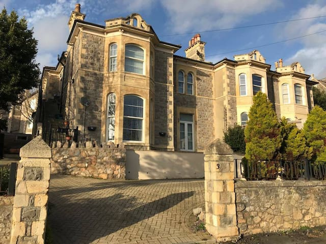 Our apartment is situated on the ground floor of this beautiful Victorian building with parking available on the driveway