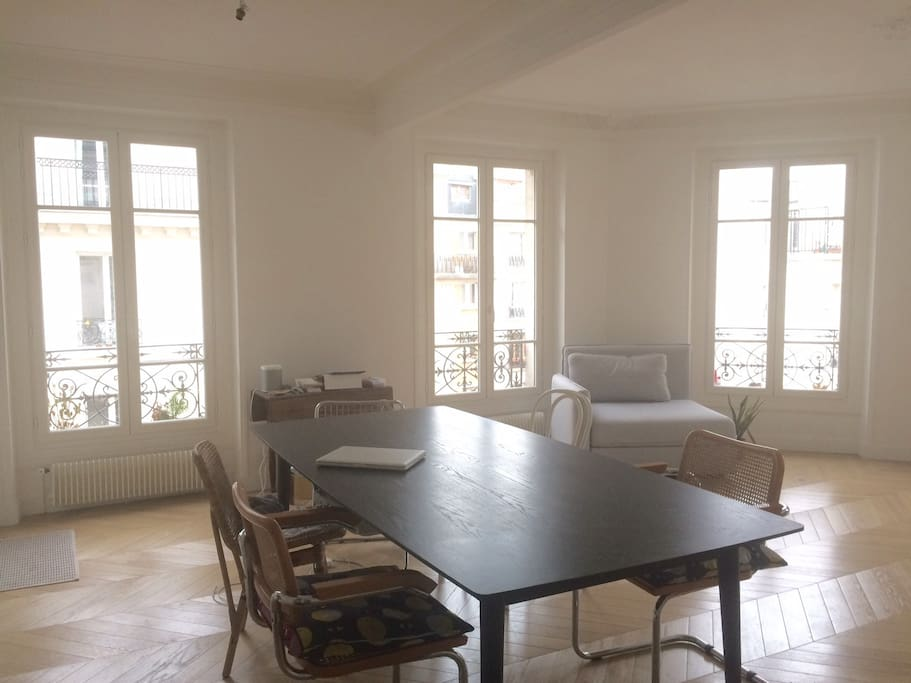 A dining table 2 meter long. You can use it as well as a working-desk.