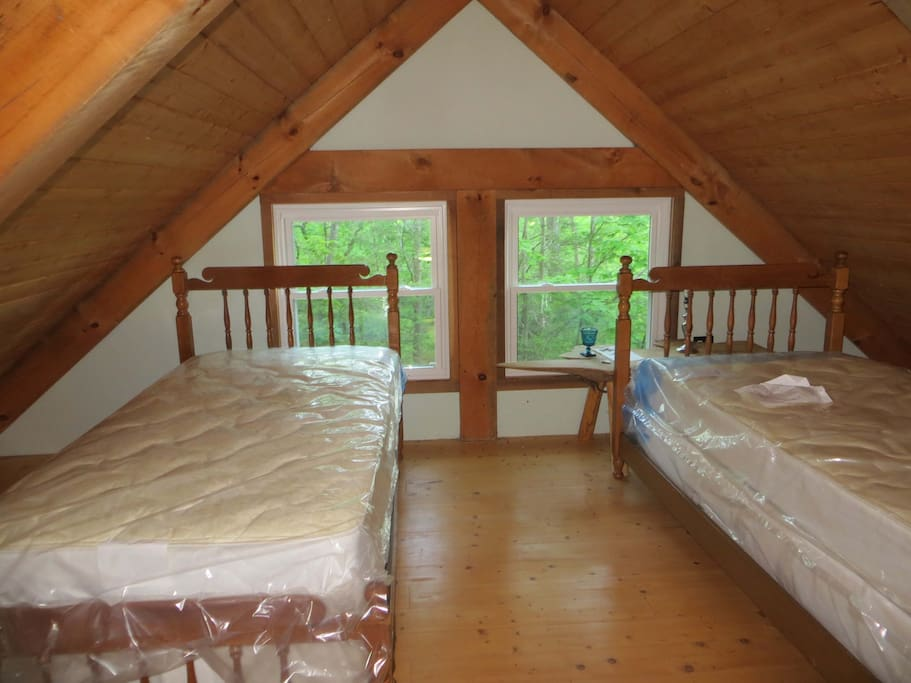 Twin Beds in the loft area
