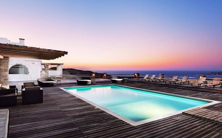 Paros Parasporos beach outstanding villa with pool