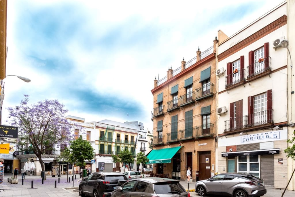 Beautiful and typical Sevillian / Triana building in a beautiful street.