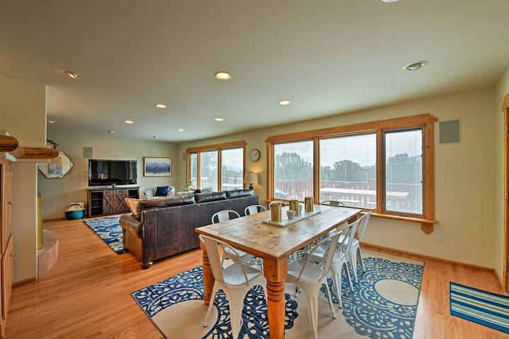 The interior is beautifully furnished and well-appointed to accommodate 6.