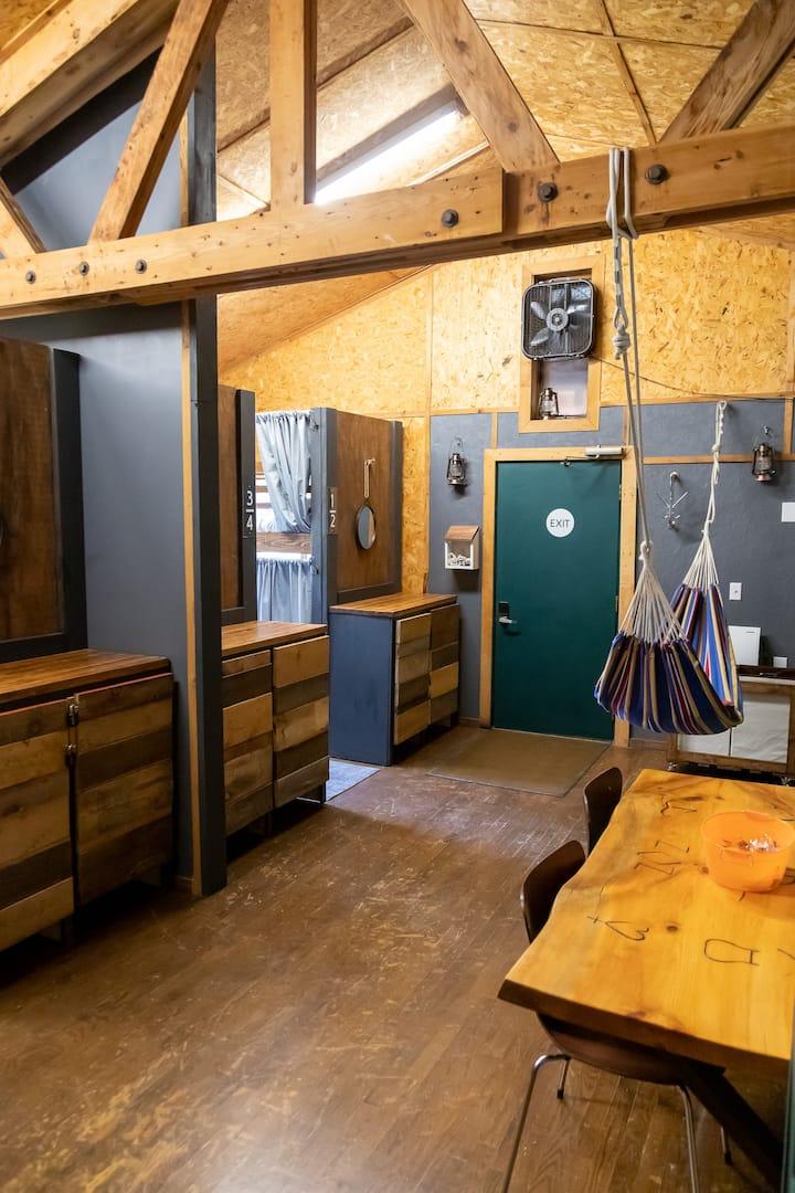 Basecamp Hostel Upper Bunk-7 w/ kitchen & showers
