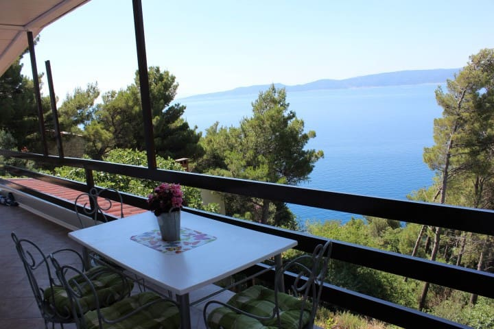 Adriatic sea view apartment A4 - Marušići - Apartemen