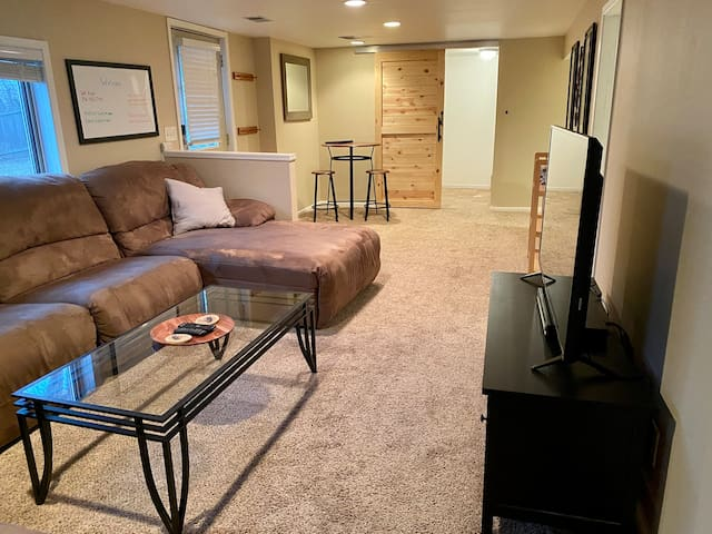 Basement guest suite with private entrance