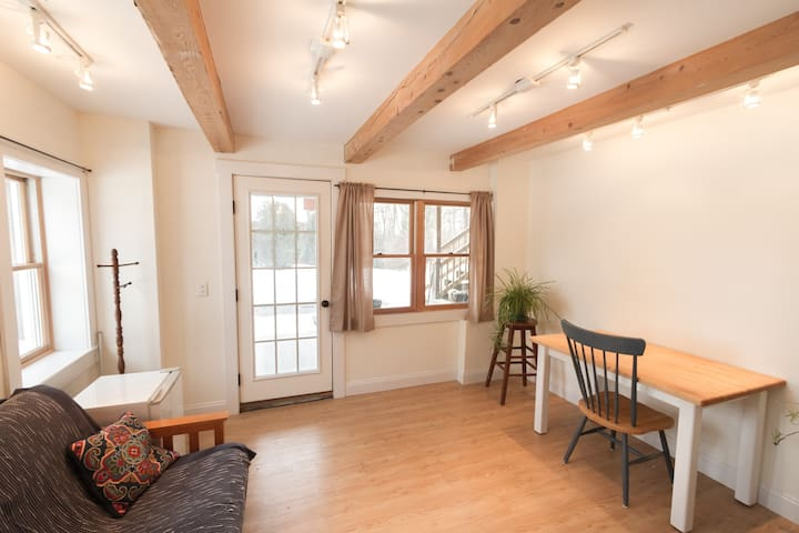 Lots of natural sunlight and radiant heat in the floors.