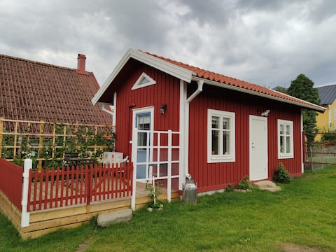 Newly built cottage in traditional style